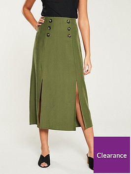 wallis-cupra-button-skirt-green