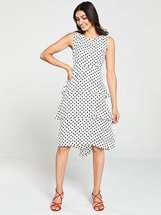 wallis-spot-tiered-pasadena-dress-monochrome
