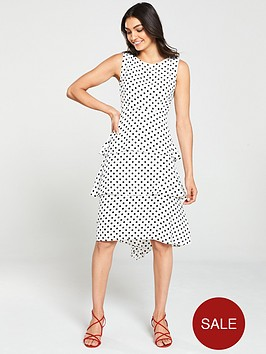 wallis-spot-tiered-pasadena-dress-monochrome