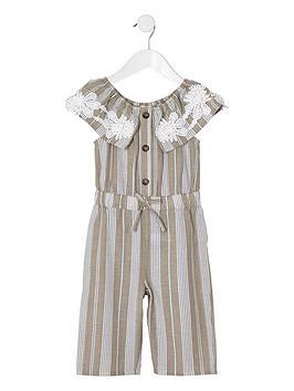 river-island-mini-mini-girls-stripe-bardot-jumpsuit-beige