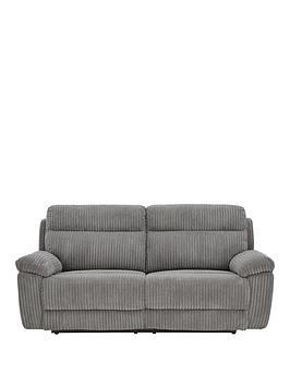 Very Baron Fabric 3 Seater Manual Recliner Sofa Picture