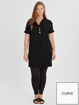 evans-button-front-linen-tunic-black