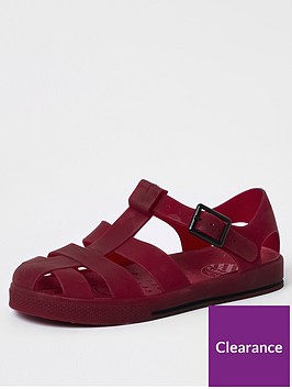 river-island-boys-jelly-cage-sandals-dark-red
