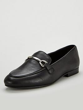 v-by-very-magpie-leather-snaffle-trim-loafers-black