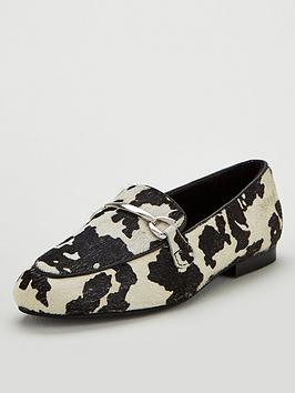 v-by-very-magpie-leather-snaffle-trim-loafers-blackwhite