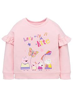 peppa-pig-girls-frill-sleeve-sweat-top-pink
