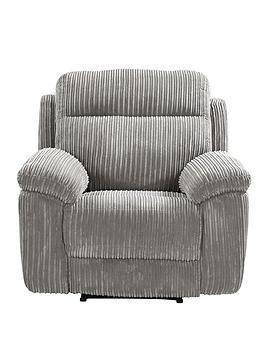 Very  Baron Fabric Manual Recliner Armchair