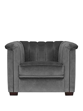 Michelle Keegan Home Michelle Keegan Home Hepburn Fabric Accent Chair Picture