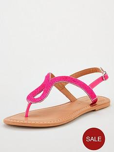 v-by-very-havana-beaded-toe-post-neon-sandals-pink