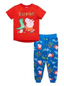 peppa-pig-boys-george-pig-best-buds-tee-amp-all-over-print-jogger-set-rednavy
