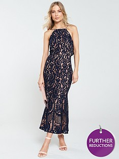 jarlo-dahlia-high-neck-lace-midi-dress-navy