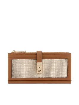 accessorize-linen-soft-double-flap-wallet-tan