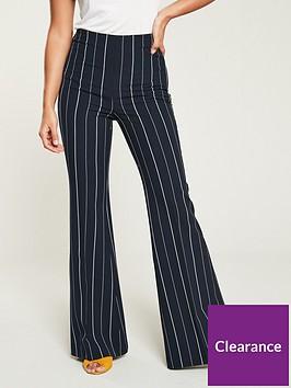 v-by-very-high-waist-flared-trouser-stripe