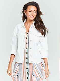 michelle-keegan-denim-jacket-white