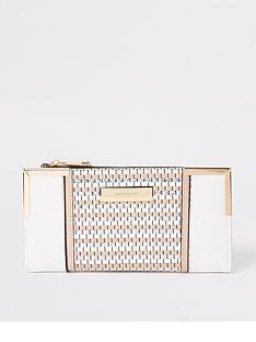 river-island-metal-corner-purse--white