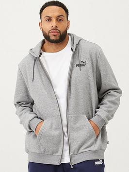 Puma Puma Plus Size Essentials Full Zip Hoody - Grey Picture