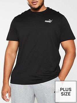 puma-plus-size-essential-small-logo-t-shirt-black