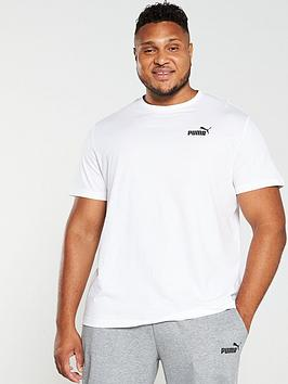 Puma Puma Plus Size Essential Small Logo T-Shirt - White Picture