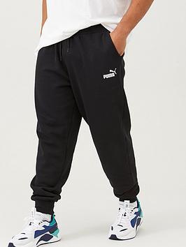Puma Puma Plus Size Mens Essentials Logo Pants - Black Picture