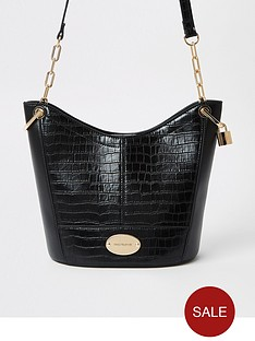 river-island-medium-bucket-bag--black