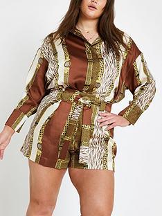 ri-plus-ri-plus-mixed-print-tie-belt-shorts--brown
