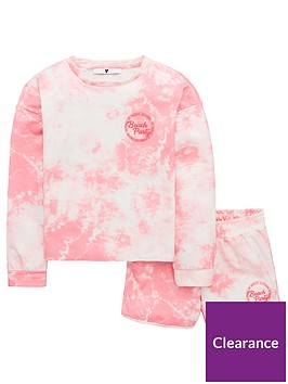 v-by-very-girls-tie-dye-top-amp-short-outfit-pink
