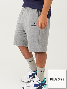 puma-plus-size-mens-essentials-sweat-shorts-grey