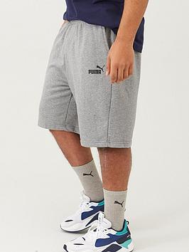 Puma Puma Plus Size Mens Essentials Sweat Shorts - Grey Picture