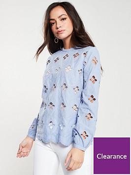 river-island-river-island-laser-cut-detail-high-neck-blouse--blue