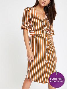 ri-petite-ri-petite-button-detail-stripe-midi-dress-orange