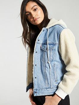 Levi's Levi'S Levis Ex-Bf Sherpa Sleeve Trucker Jacket Picture