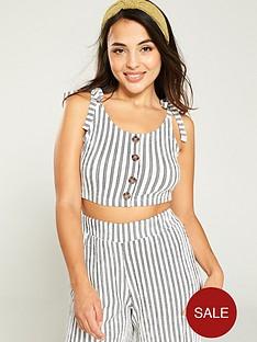v-by-very-tie-shoulder-button-front-crop-top-stripe