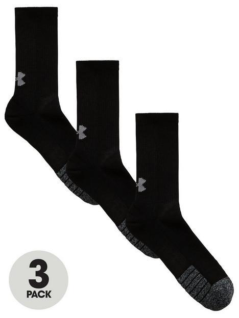 under-armour-3-packnbspheatgearreg-crew-socks-black