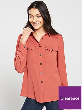 v-by-very-soft-utilitynbsplong-sleeve-shirt-rose