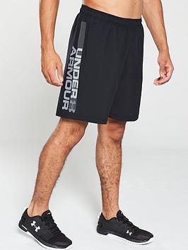 Under Armour Under Armour Woven Graphic Wordmark Shorts - Black Picture