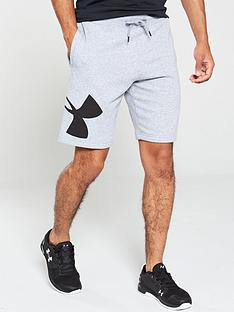 under-armour-rival-fleece-logo-sweat-shorts-grey