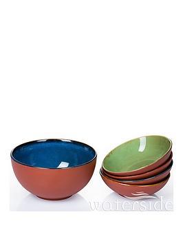 WATERSIDE Waterside 5-Piece Rustic Terracotta Pasta/Salad Bowl Set Picture