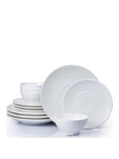 waterside-12-piece-embossed-melamine-dinner-set