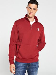 converse-star-chevron-half-zip-pullover-red