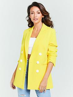 michelle-keegan-oversized-double-breasted-blazer-yellow