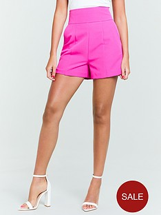 michelle-keegan-tailored-short-fuchsia