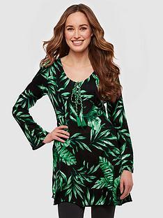 joe-browns-vivacious-palm-leaf-tunic-blackgreen