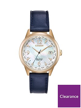 citizen-citizen-eco-drive-perpetual-calendar-mother-of-pearl-and-rose-gold-detail-date-dial-blue-leather-strap-ladies-watch