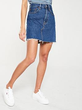 Levi's Levi'S High Rise Deconstructed Iconic Skirt - Denim Picture