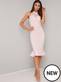 chi-chi-london-abbie-lace-high-neck-midi-dress-mink