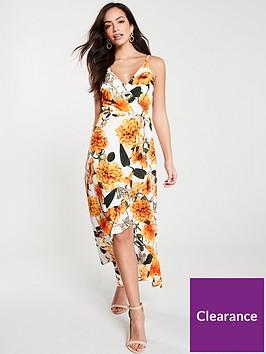 ax-paris-floral-wrapnbspmidi-dress-orangecream