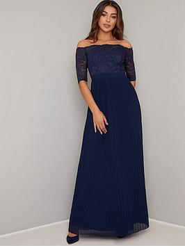 chi-chi-london-ellory-lace-bardot-maxi-dress-navy