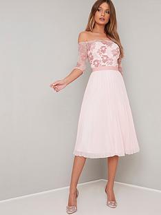 chi-chi-london-selda-lace-bardot-midi-dress-pink