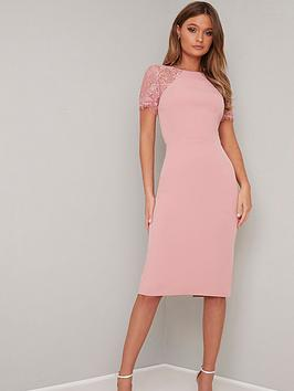 chi-chi-london-shannon-lace-back-detail-midi-dress-pink