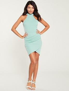 ax-paris-high-neck-bodycon-dress-duck-egg